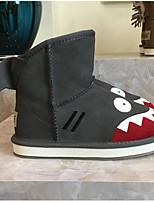 Boys' Shoes Nubuck leather Fall Winter Comfort Snow Boots Boots For Casual Red Coffee Gray
