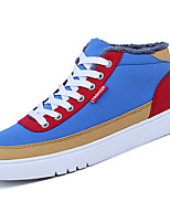 cheap -Men's Shoes PU Spring Fall Comfort Sneakers For Outdoor Blue Gray Black
