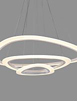 triângulo acrílico moderno simplicidade led luzes pendentes três anéis luz interior para escritório sala de estar quarto restaurante