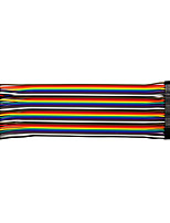 economico -da maschio a femmina 20cm / 40p / 2,54 / 10 linea alluminio rivestita in rame 24 bl
