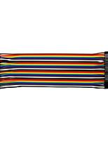 abordables -línea de aluminio con revestimiento de cobre de 20 cm a 40 p / 2.54 / 10 macho a hembra