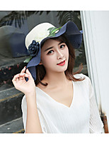 Women's Polyester Sun Hat,Casual Solid Fall Spring, Fall, Winter, Summer