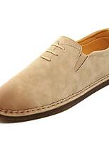 Homme Chaussures Polyuréthane Printemps Automne Confort Mocassins et Chaussons+D6148 Pour Décontracté Beige Marron Vert Véronèse