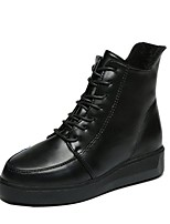 cheap -Women's Shoes PU Winter Comfort Fashion Boots Boots Round Toe For Casual Black