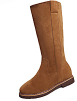 cheap -Women's Shoes PU Spring Fall Comfort Boots For Outdoor Green Red Brown Black