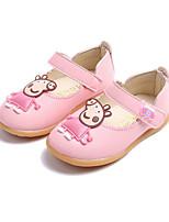 preiswerte -Mädchen Schuhe PU Herbst Winter Komfort Flache Schuhe Für Normal Weiß Rot Rosa
