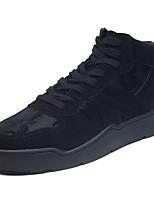 Недорогие -Для мужчин обувь Полиуретан Осень Зима Удобная обувь Кеды Назначение Повседневные Черный Серый Черно-белый