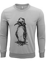 cheap -Men's Going out Sweatshirt Print Cotton Long Sleeves