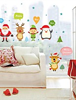 cheap -Animals Christmas Wall Stickers Plane Wall Stickers Decorative Wall Stickers,Vinyl Home Decoration Wall Decal For Window Wall