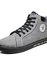 cheap -Men's Shoes Flocking Winter Light Soles Sneakers For Casual Brown Gray Black