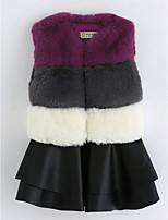 Girl's Striped Dress,Cotton Sleeveless Vintage Gray