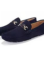 Men's Shoes Flocking Spring Fall Moccasin Light Soles Loafers & Slip-Ons Stitching Lace For Casual Burgundy Blue Coffee