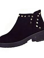 preiswerte -Damen Schuhe Vlies Winter Herbst Springerstiefel Leuchtende Sohlen Stiefel Niedriger Heel Runde Zehe Booties / Stiefeletten