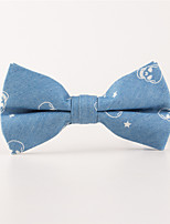 Men's Rayon Cotton Blend Bow TieBow Print All Seasons