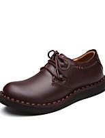abordables -Hombre Zapatos Cuero Primavera Otoño Confort Zapatillas de deporte Para Casual Café Marrón