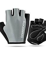 Спортивные перчатки Перчатки для велосипедистов Дышащий Анти-шоковая защита Без пальцев Сетка Велосипедный спорт / Велоспорт Муж.