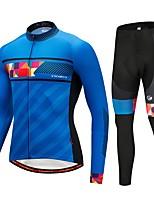 CYCOBYCO Maillot de Ciclismo con Mallas Unisex Mangas largas Bicicleta Sets de Prendas Ropa para Ciclismo Mantiene abrigado Deportes de