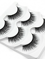 cheap -3 Eyelashes lash Full Strip Lashes Eyelash Natural Long Casual/Daily Handmade Fiber Black Band 0.07mm 12mm