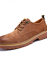 cheap -Men's Shoes Pigskin Leatherette Spring Fall Comfort Sneakers For Casual Brown Gray Black