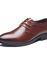 Для мужчин обувь Кожа Микроволокно Все сезоны Удобная обувь Формальная обувь Туфли на шнуровке Назначение Свадьба Черный Коричневый
