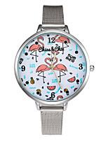 Недорогие -Жен. Повседневные часы Модные часы Китайский Кварцевый Секундомер Нержавеющая сталь Группа На каждый день Elegant Рождество Серый