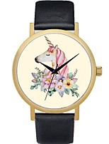 cheap -Women's Kid's Casual Watch Fashion Watch Unique Creative Watch Chinese Quartz Chronograph Leather Band Flower Casual Bohemian Colorful