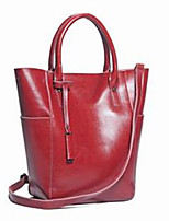 cheap -Women Bags Cowhide Tote Zipper for Casual All Season Black Red Yellow Brown Gray Green