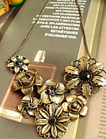 Women's Statement Necklaces Flower Alloy Metallic Vintage Jewelry For Daily Casual