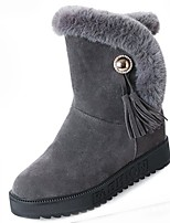 Women's Shoes Rubber Winter Snow Boots Boots Round Toe For Outdoor Green Gray Black