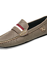 Men's Shoes Rubber Fall Winter Moccasin Loafers & Slip-Ons For Outdoor Khaki Yellow Black