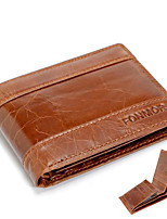 cheap -Men Bags PU Wallet Buttons for Casual All Season Chocolate