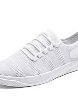 abordables -Hombre Zapatos PU Invierno Otoño Confort Zapatillas de deporte Para Casual Blanco Negro Gris