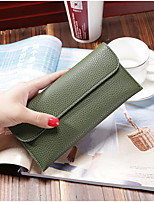 Women Bags PU Wallet Tiered for Casual Office & Career All Season Green Black Blushing Pink Sky Blue