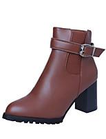 abordables -Mujer Zapatos Goma Semicuero Invierno Otoño Botas de Moda Botas de Combate Botas Botines/Hasta el Tobillo Para Casual Negro Gris oscuro