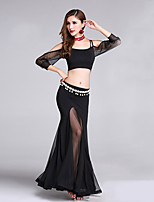 Shall We Belly Dance Outfits Women's Training Polyester Half Sleeve Dropped Skirts Tops