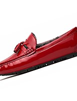 Men's Shoes PU Winter Moccasin Loafers & Slip-Ons For Casual Blue Red Black