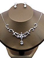 Women's Cubic Zirconia Floral Zircon Earrings Necklace For Wedding Evening Party Wedding Gifts
