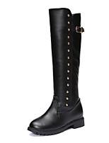 preiswerte -Damen Schuhe PU Herbst Winter Komfort Modische Stiefel Stiefel Für Normal Schwarz