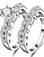 Homens Mulheres Anéis Grossos Zircônia Cubica Zircão Cobre Jóias Para Casamento Festa Noivado Cerimônia Festa de Noite