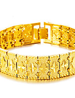 cheap -Men's Bangles Cuff Bracelet Asian Lovely Fashion Gift Gold Plated Jewelry For Wedding Daily