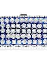 Damen Taschen Alle Jahreszeiten Polyester Unterarmtasche perlmutterglänzend für Veranstaltung / Fest Blau Gold Schwarz Silber Rote