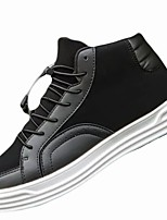 cheap -Men's Shoes PU Winter Comfort Sneakers For Casual Black White