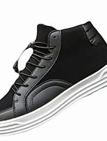 Недорогие -Для мужчин обувь Полиуретан Зима Удобная обувь Кеды Назначение Повседневные Белый Черный