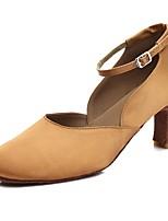 "cheap -Women's Modern Satin Heel Indoor Cuban Heel Dark Brown 2"" - 2 3/4"" Customizable"