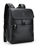 Men Bags PU Backpack Pockets Zipper for Sports Office & Career All Season Black