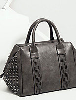 cheap -Women Bags PU Tote Zipper for Casual All Season Dark Brown Dark Grey