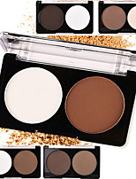 2 Powder Concealer/Contour Highlighters/Bronzers Pressed Powder Dry Matte Pressed powder Whitening Oil-control Natural Waterproof White