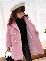 Girls' Solid Jacket & Coat Blue Blushing Pink