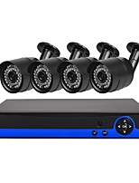 economico -Sistema di telecamere di sicurezza a 4 canali con telecamere a prova di intemperie da 4ch 1080n e dvr 41.3mp con visione notturna