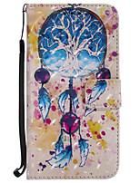 Кейс для Назначение SSamsung Galaxy J7 (2017) J5 (2017) Кошелек Бумажник для карт со стендом Флип С узором Чехол Ловец снов Твердый